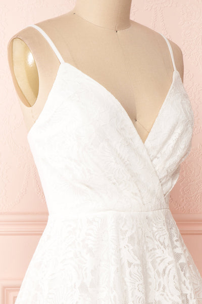Gavina Ivory Lace A-Line Party Dress | Robe | Boutique 1861 side close-up