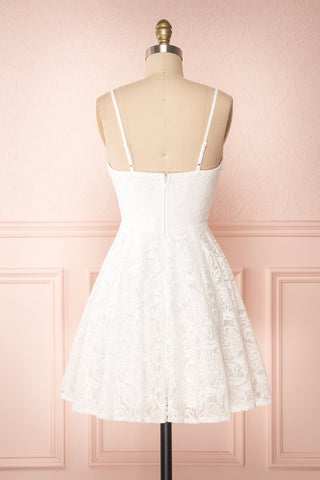 Gavina Ivory Lace A-Line Party Dress | Robe | Boutique 1861 back view