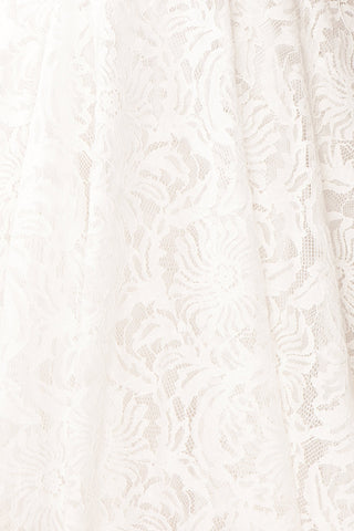 Gavina Ivory Lace A-Line Party Dress | Robe | Boutique 1861 fabric detail