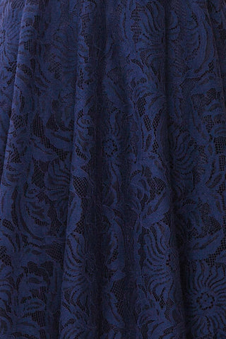 Gavina Navy Lace A-Line Party Dress | Robe | Boutique 1861 fabric detail