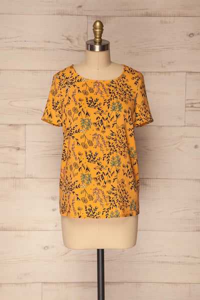 Gavrion Yellow Floral Short Sleeved T-Shirt | La Petite Garçonne 1
