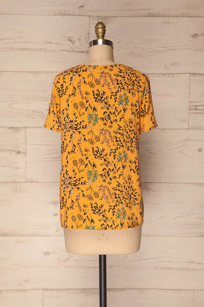 Gavrion Yellow Floral Short Sleeved T-Shirt | La Petite Garçonne 5