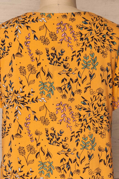 Gavrion Yellow Floral Short Sleeved T-Shirt | La Petite Garçonne  6