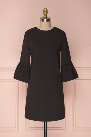 Ghie Black Shift Dress with Bell Sleeves | Boutique 1861