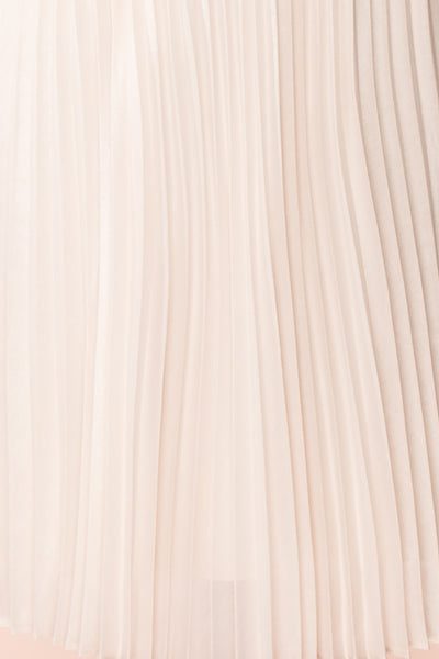 Ghislaine Off-White Pleated Skirt fabric | Boutique 1861
