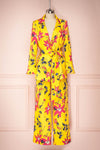 Ginnong Yellow Floral Pants & Blazer Set | Boutique 1861
