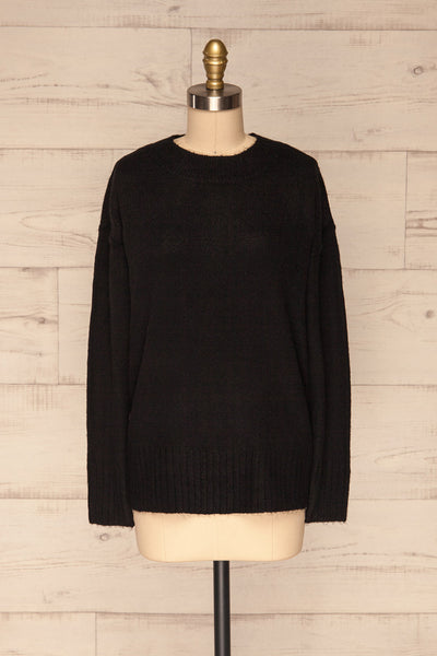 Gistel Black Soft Knit Sweater | La Petite Garçonne front view
