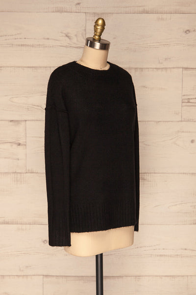Gistel Black Soft Knit Sweater | La Petite Garçonne side view