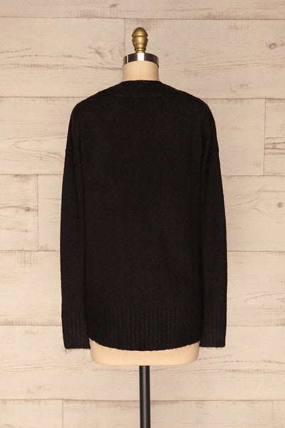 Gistel Black Soft Knit Sweater | La Petite Garçonne back view