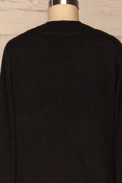 Gistel Black Soft Knit Sweater | La Petite Garçonne back close-up