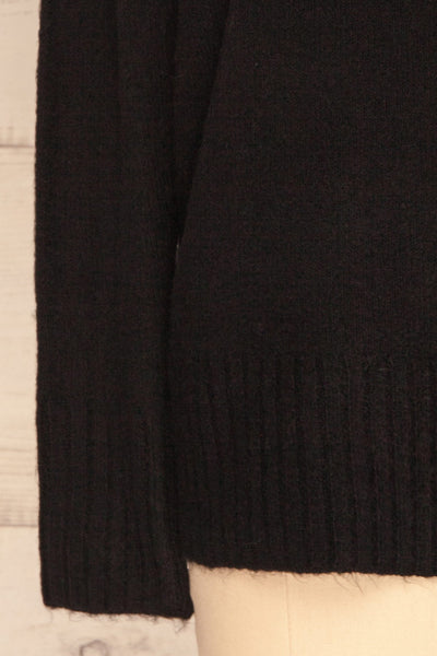 Gistel Black Soft Knit Sweater | La Petite Garçonne bottom close-up
