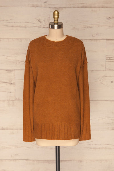 Gistel Brown Ochre Soft Knit Sweater | La Petite Garçonne front view