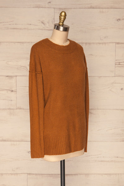 Gistel Brown Ochre Soft Knit Sweater | La Petite Garçonne side view