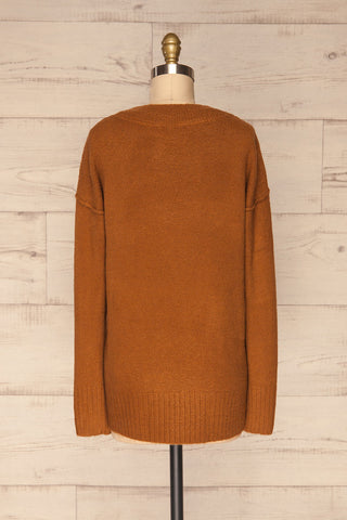 Gistel Brown Ochre Soft Knit Sweater | La Petite Garçonne back view