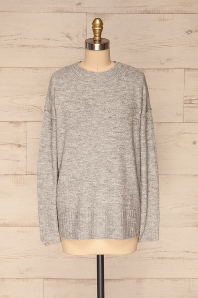 Gistel Grey Soft Knit Sweater | La Petite Garçonne front view