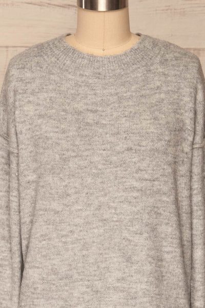 Gistel Grey Soft Knit Sweater | La Petite Garçonne front close-up