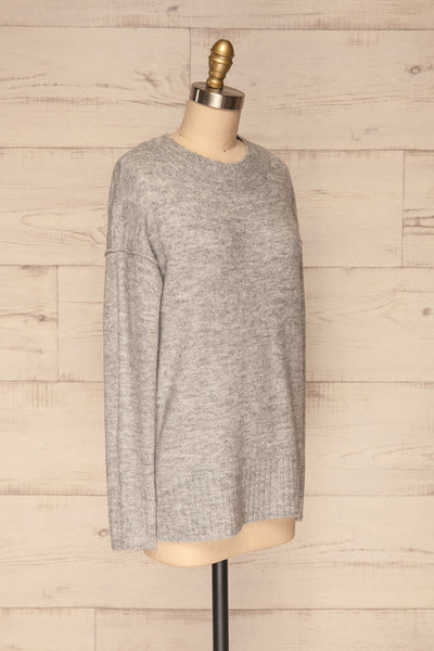 Gistel Grey Soft Knit Sweater | La Petite Garçonne side view