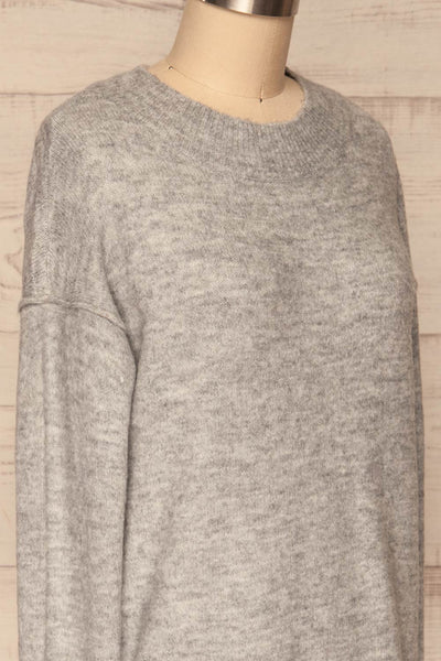 Gistel Grey Soft Knit Sweater | La Petite Garçonne side close-up