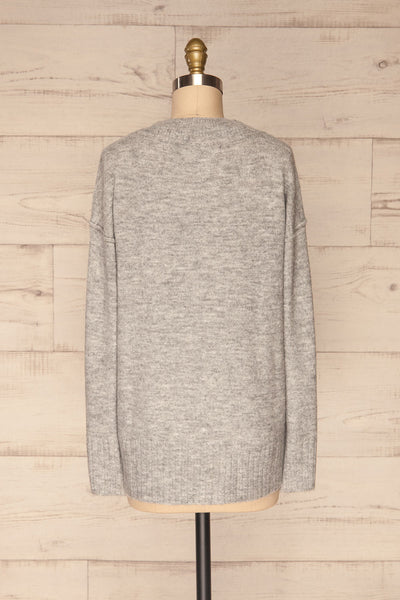 Gistel Grey Soft Knit Sweater | La Petite Garçonne back view