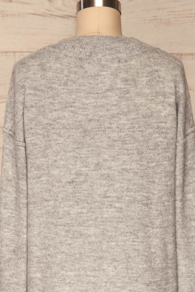 Gistel Grey Soft Knit Sweater | La Petite Garçonne back close-up