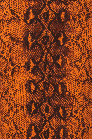 Gliwice Arancia Orange Snake Pattern Dress | TEXTURE DETAIL | La Petite Garçonne