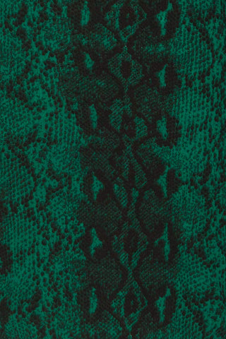 Gliwice Verde Green Snake Pattern Cocktail Dress | TEXTURE DETAIL | La Petite Garçonne