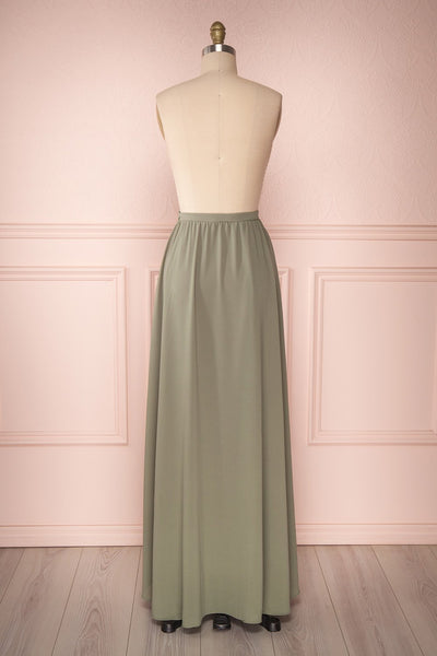 Glykeria Forest Sage Green Chiffon Maxi Skirt | Boutique 1861 6
