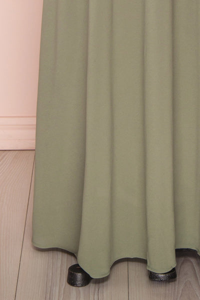 Glykeria Forest Sage Green Chiffon Maxi Skirt | Boutique 1861 8
