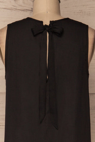 Godoy Silky Black Loose Top with Back Cut-Out | La Petite Garçonne 2
