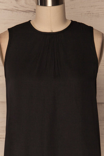 Godoy Silky Black Loose Top with Back Cut-Out | La Petite Garçonne 6