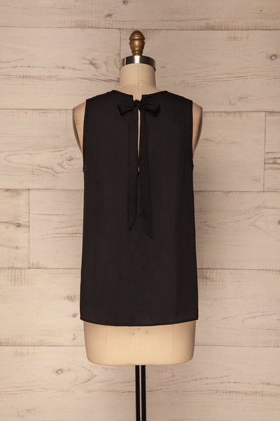 Godoy Silky Black Loose Top with Back Cut-Out | La Petite Garçonne 5