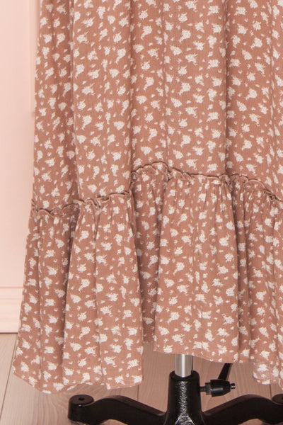Goldyna Taupe Pink Printed Maxi Dress | Boutique 1861 skirt