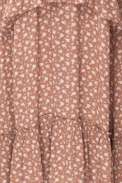 Goldyna Taupe Pink Printed Maxi Dress | Boutique 1861 fabric
