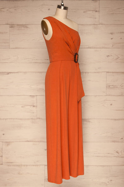 Golenlow Orange Wide Leg Jumpsuit | La petite garçonne side view