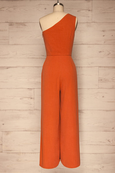 Golenlow Orange Wide Leg Jumpsuit | La petite garçonne back view