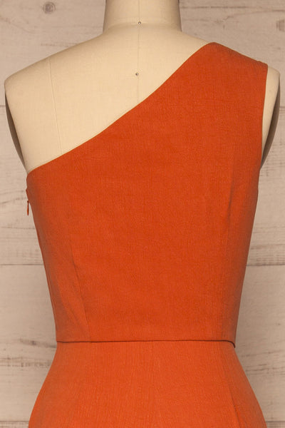 Golenlow Orange Wide Leg Jumpsuit | La petite garçonne back close-up