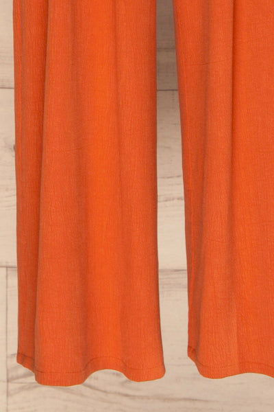 Golenlow Orange Wide Leg Jumpsuit | La petite garçonne bottom