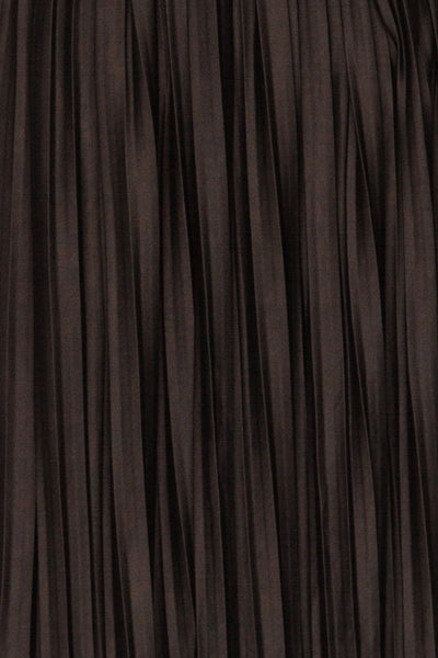 Gouves Black Pleated Midi Skirt | La petite garçonne fabric