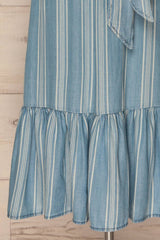 Gracac Light Blue Striped Midi Summer Dress | La Petite Garçonne