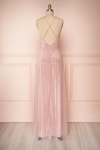 Grania Blush Pink Tulle Maxi Dress | Boutique 1861 5