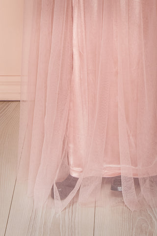 Grania Blush Pink Tulle Maxi Dress | Boutique 1861 8