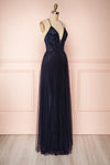 Grania Navy Blue Tulle Maxi Dress | Boutique 1861 3