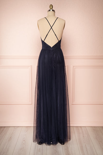 Grania Navy Blue Tulle Maxi Dress | Boutique 1861 5
