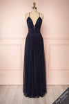 Grania Navy Blue Tulle Maxi Dress | Boutique 1861 1