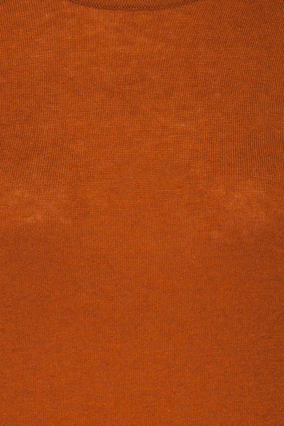 Granna Rust Brown Short Sleeved Knit fabric | La petite garçonne