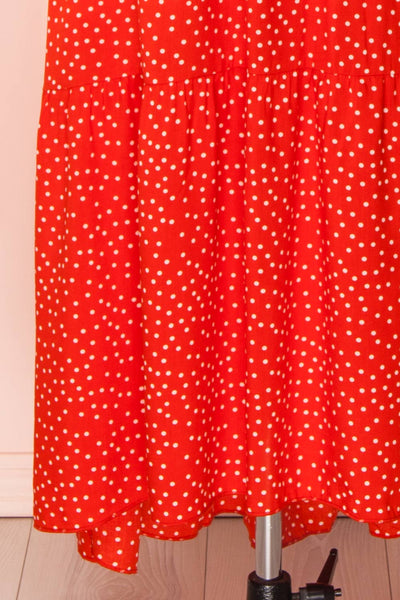 Hagoromo Red & White Polka Dots Maxi Dress | La petite garçonne skirt