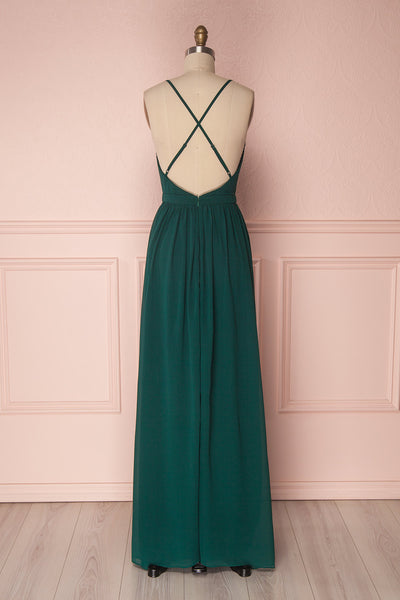 Haley Forest | Green Chiffon Gown