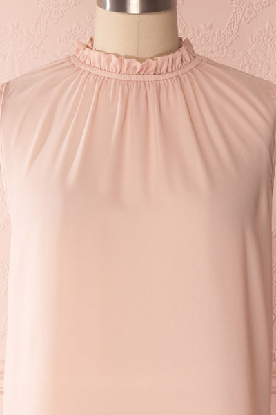 Hanabi Dusty Pink Ruffled Collar Sleeveless Top | Boutique 1861 2