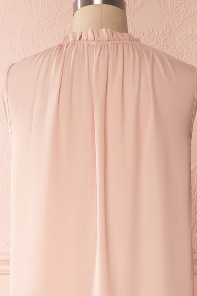 Hanabi Dusty Pink Ruffled Collar Sleeveless Top | Boutique 1861 6