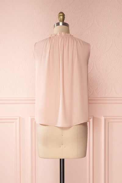 Hanabi Dusty Pink Ruffled Collar Sleeveless Top | Boutique 1861 5